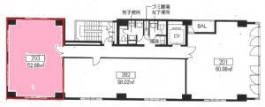 大和本町ビル2階間取り図