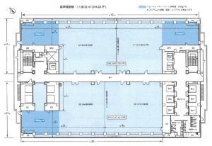 大阪ベイタワーオフィス基準階間取り図