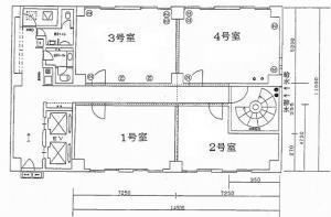 大栄ビル新館基準階間取り図