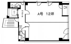 AXIS江戸一ビルA号室間取り図