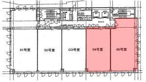 肥後橋IPビル基準階間取り図
