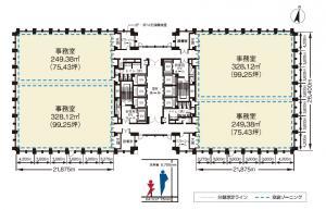 アクア堂島NBFタワー基準階間取り図