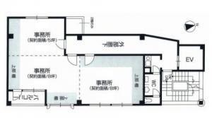 新大阪オクノビル基準階間取り図