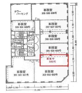 ファースト船場ビル503号室間取り図