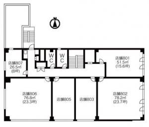 中央谷町ビル8階間取り図