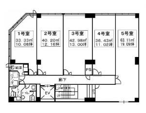 SANWAトレーディングビル基準階間取り図