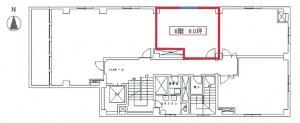 西天満パークビル4号館6階間取り図