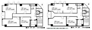 RE-016ビル基準階間取り図
