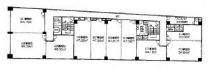 新大阪駅前東口ステーションビル2階間取り図