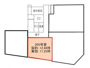 本町立売堀ビル2階間取り図
