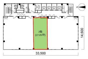 プライムスクエア心斎橋ビル7階間取り図
