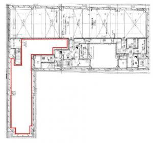 ランズ瓦町ビルディング地下1階間取り図