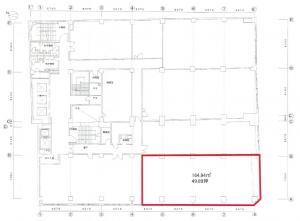 創建御堂筋ビル3階間取り図