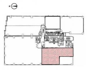 オリックス淀屋橋ビル基準階間取り図