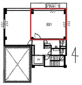 フェスタ江坂ビル301号室間取り図
