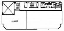 いちご南森町ビル基準階間取り図