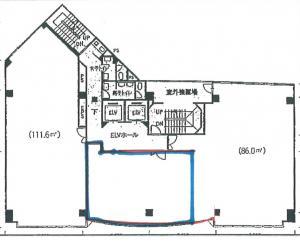 嶌野(シマノ)ビル基準階間取り図