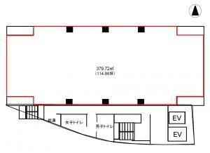 京橋フロントビル基準階間取り図
