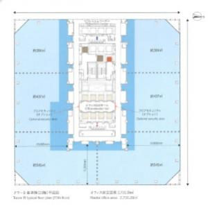 グランフロント大阪 タワーB基準階間取り図