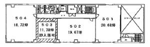トーア紡第2ビル5階間取り図