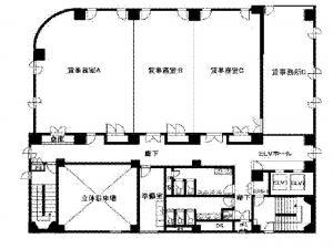 カーニープレイス本町ビル基準階間取り図
