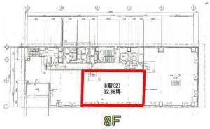 本町寺田ビルディング8階間取り図