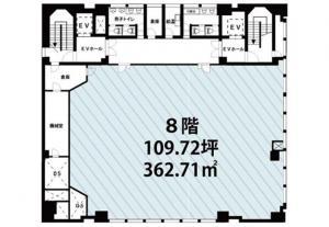 NLC新御堂ビル8階間取り図