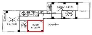 第7新大阪ビル3階間取り図