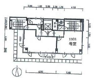 ノース四ツ橋ビル1101号室間取り図