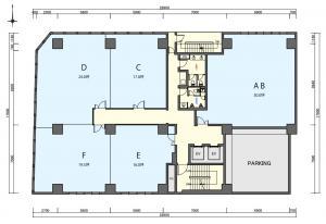 第3中島ビル基準階間取り図