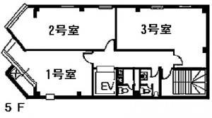 江坂ビジネスゾーンビル5階間取り図