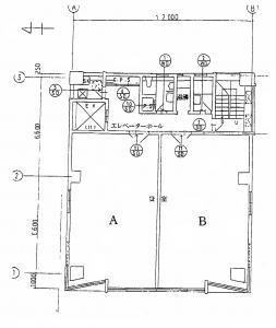 IBセンター(アイビィセンター)ビル基準階間取り図