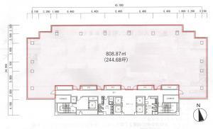 大阪YMビル基準階間取り図