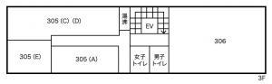 大阪ジュエリービル3階間取り図