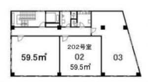 谷野ビル202号間取り図