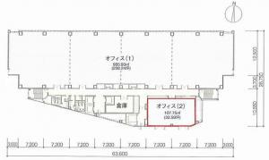 難波サンケイビル基準階間取り図
