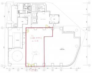難波室町ビル1階間取り図