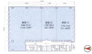 岩田東急ビル基準階間取り図