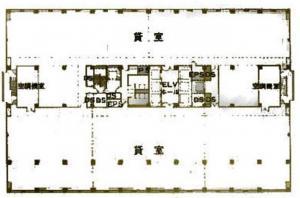 阪急千里中央ビル基準階間取り図