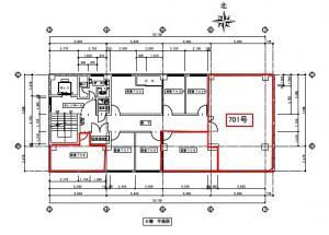 大和ビル8号館基準階間取り図