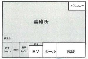 上組本町(カミグミ)ビル基準階間取り図