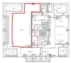 アステリオ北堀江ビル12階間取り図