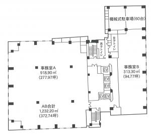 NREG御堂筋ビル間取り図