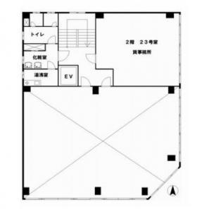 横井第7ビル2階間取り図