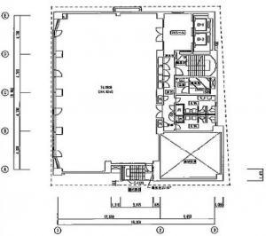 銀泉西本町ビル基準階間取り図