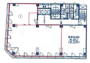 グロース北浜ビルディング6階間取り図