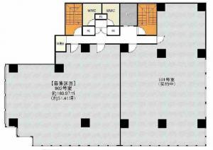 京町堀センタービル9階間取り図