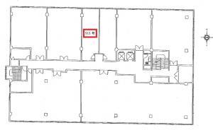 京橋大発ビル9階間取り図