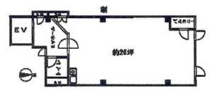 クリオ平野町ビル基準階間取り図