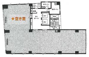 四ツ橋パークビル4階間取り図